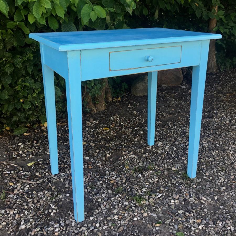 Bord blå antik
