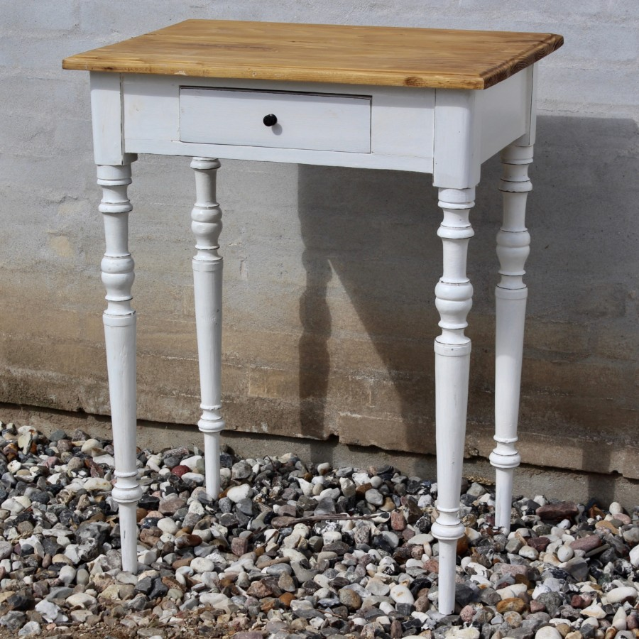 Sidebord-bord-gammelt-antikt-hvid