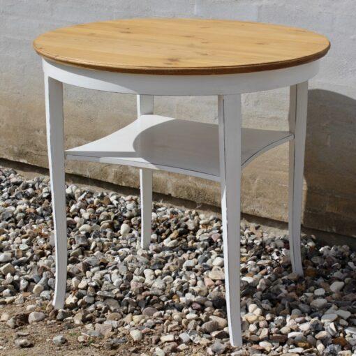 Bord- antikt- gammelt- rustikt- hvid