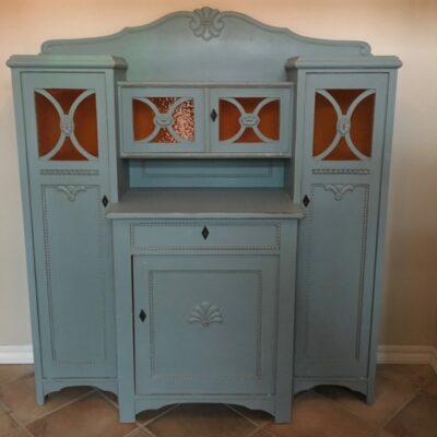 Buffet-skaenk-gammel-antik-blå