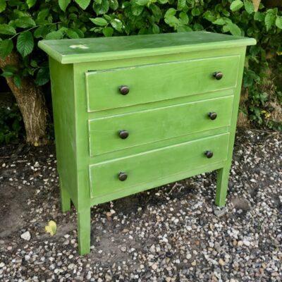 Kommode-lille-grøn-antik