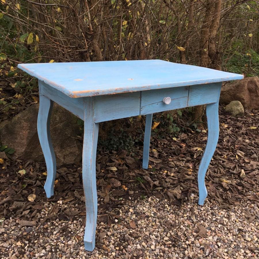 Bord, skrivebord, antikt, rustikt, gammelt, fransk, landstil, malet